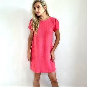 Anthropologie Maeve Pink Textured Dress Medium